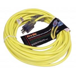 Câble d'alimentation électrique commercial 50' - 14/3 300v - jaune