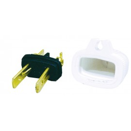2 WIRES REPLACEMENT PLUG (M) - WHITE
