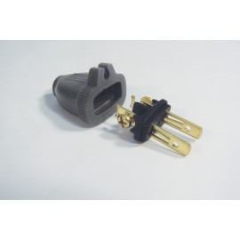 2 WIRES REPLACEMENT PLUG (M) - GREY