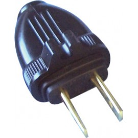 2 WIRES REPLACEMENT PLUG (M) - BLACK