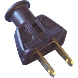 2 WIRES REPLACEMENT PLUG (M) - STATITE - BLACK