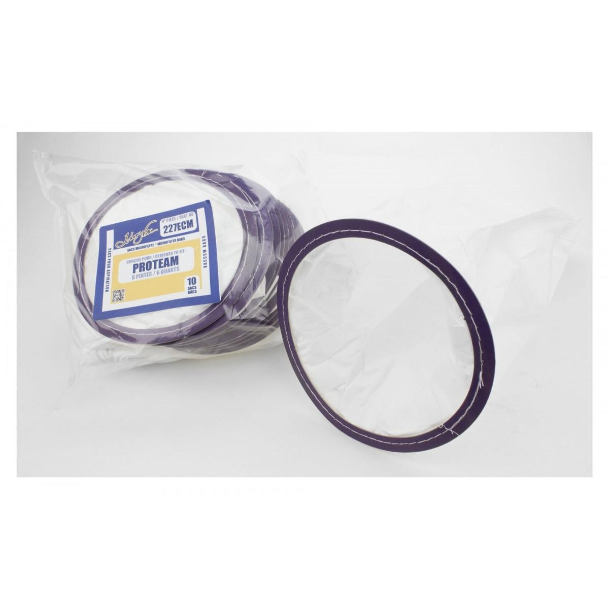 sacs microfiltre pour aspirateur proteam 6 pintes paq 10. Black Bedroom Furniture Sets. Home Design Ideas