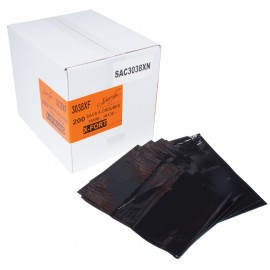 "Commercial Garbage / Trash Bags - Extra Strong - 30"" x 38"" (76.2 cm x 96.5 cm) - Black - Box of 200"