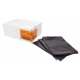 "Commercial Garbage / Trash Bags - Extra Strong - 35"" x 50"" (88.9 cm x 127 cm) - Black - Box of 100"