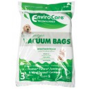 HEPA Microfilter Bag for Hoover, Futura, Spectrum and Wind Tunnel Canister Vacuum - Pack of 3 Bags - Envirocare A109