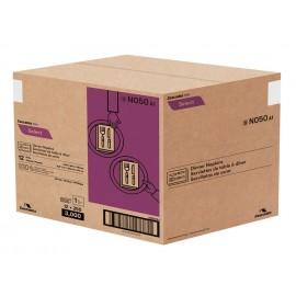 """Serviettes de table - 1 épaisseur - 15,5"""" x 16"""" (39,3 cm x 40,6 cm) - boîte de 12 paquet de 250 serviettes - blanche - Cascades N050"""