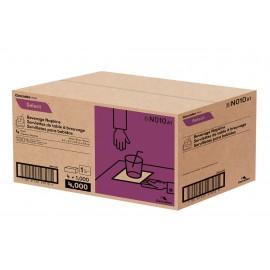 """Serviettes à breuvage - 8.5"""" x 8.5"""" (21,6 cm x 21,6 cm) - boîte de 4 paquets de 1000 serviettes - blanche - Cascades Pro N010"""