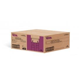 """Papier essuie-mains - plis simples - 9"""" x 9,45"""" (22,9 cm x 24 cm) - boîte de 16 paquets de 250 feuilles - brun - Cascades Pro H115"""