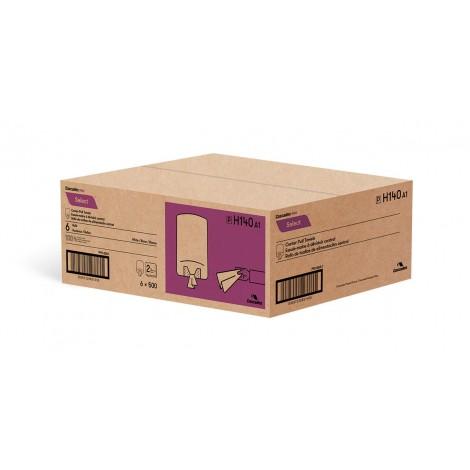 Paper Hand Towels - Centerpull - 2-Ply - 10 x 7.8 in (25.4 cm x 19.8 cm) - Box of 6 Rolls - White - Cascades Pro H140