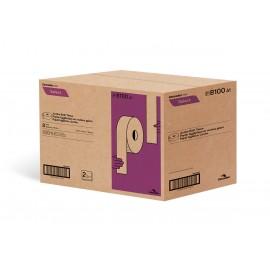 """Papier hygienique commercial géant - 2 épaisseurs - 3,3 """" x 750' (8,4 cm x 228,6 m) - boîte de 8 rouleaux - blanc - Cascades Pro B100"""