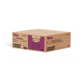 """Papier essuie-mains - plis simples - 9"""" x 9,45"""" (22,9 cm x 24 cm) - boîte de 16 paquets de 250 feuilles - blanc- Cascades Pro H110"""