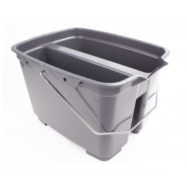 Seau à double compartiment - 2,2 gal (10 L) - gris