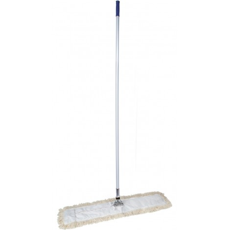 """Dust Mop for Dry Floors - with Handle - DM26W - 36"""" (91,4 cm) - White/Blue"""