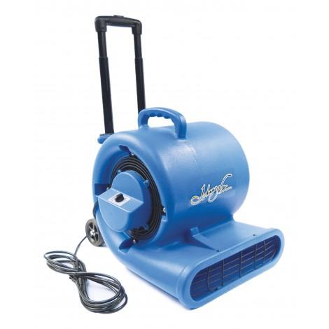 "Portable Floor Blower / Fan / Floor Dryer - Johnny Vac - Fan Diameter 9.5"" (24 cm) - 3 Speeds with Telescopic Handle and Wheels - Blue"
