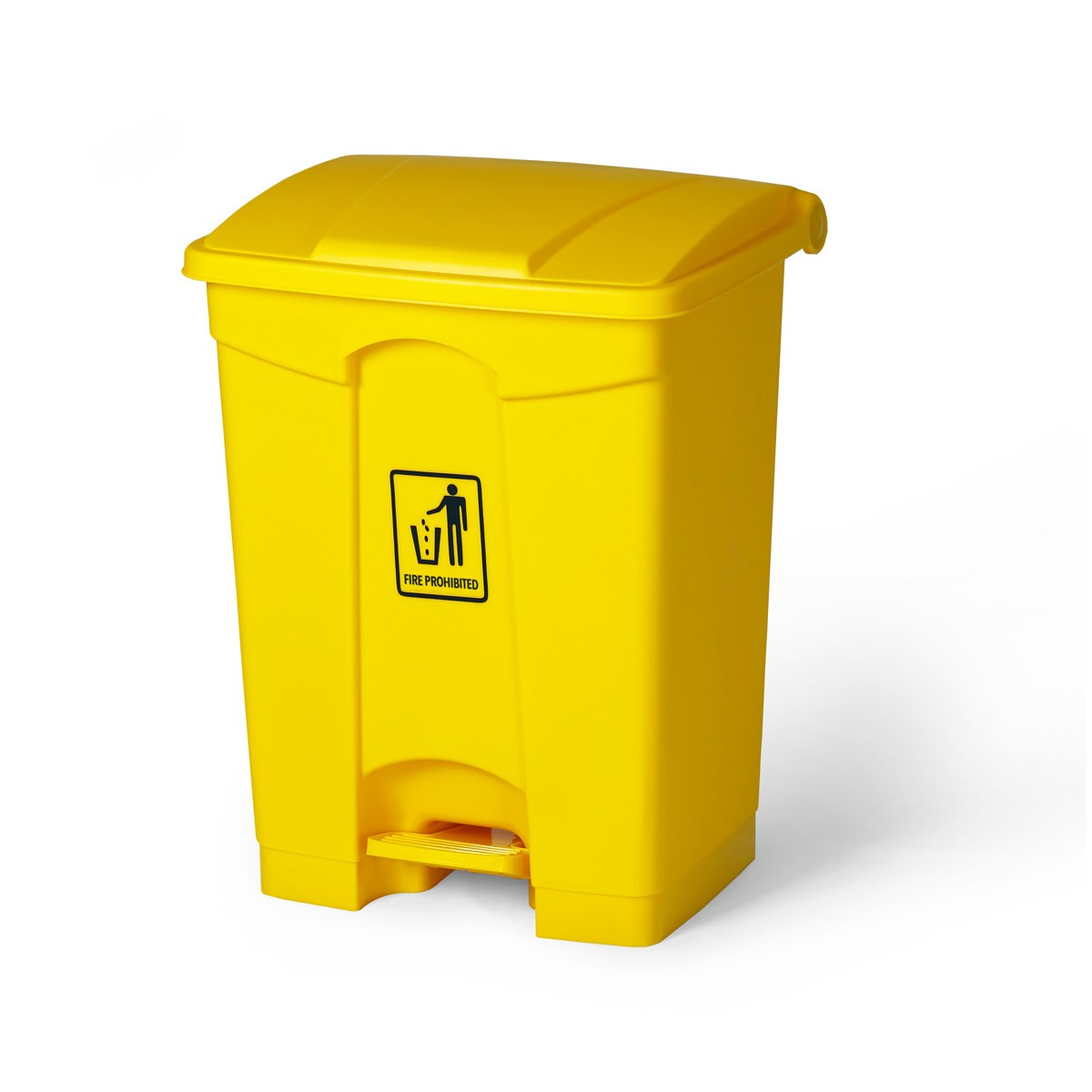 Wastecan 68l With Lid And Foot Pedal Yellow