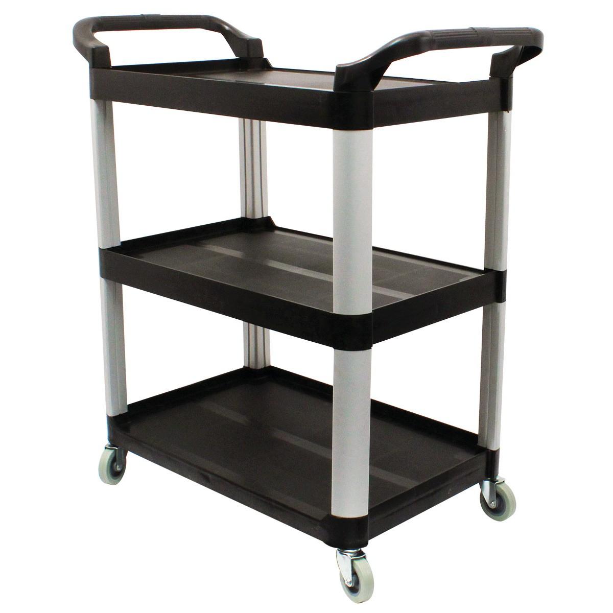 chariot de service 3 tablettes noir. Black Bedroom Furniture Sets. Home Design Ideas