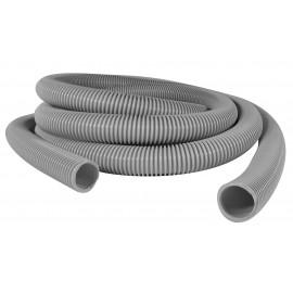 """Hose for Central Vacuum - 50' (15 m) - 1 ½"""" (38 mm) dia - Grey - Anti-Crush - Plastiflex CZ100112050PB"""