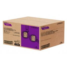 """Serviettes de table à diner - 2 épaisseurs - 15"""" x 15"""" (38,1cm x 38,1 cm) - boîte de 30 paquets de 100 serviettes - blanc - Cascades N060"""