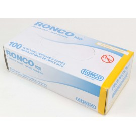 BLUE VINYL GLOVES WITHOUT POWDER 100 BY BOX EXTRA LARGE SIZE DISPOSABLE