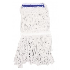 FLAT MOP HEAD - 70% COTTON 30% SYNTHETIC - 12 OZ (350 G) - WHITE