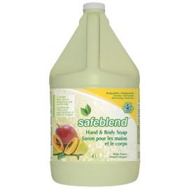 Savon mousse pour les mains et le corps - mangue papaye - 1,06 gal (4 L) - Safeblend HFMP G04