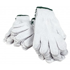 KNIT GLOVES - WHITE - M - PACK OF 12 PAIRS