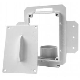 Ensemble d'installation de valve pour aspirateur central - blanc - Hide-A-Hose HS5000R
