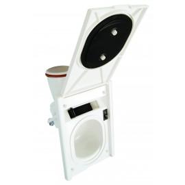 Valve d'entrée complète - pour installation aspirateur central - blanc - Hide-A-Hose HS5000W