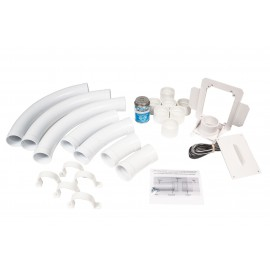 Installation Kit for Hide-A-Hose System - White - 50' (15 m) or 60' (18 m) - for HS5000 Inlet