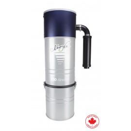 Aspirateur central Johnny Vac - JV700LS - silencieux - 700 watts-air - capacité de 6 gal (22,7 L) - support mural - filtre et sac HEPA