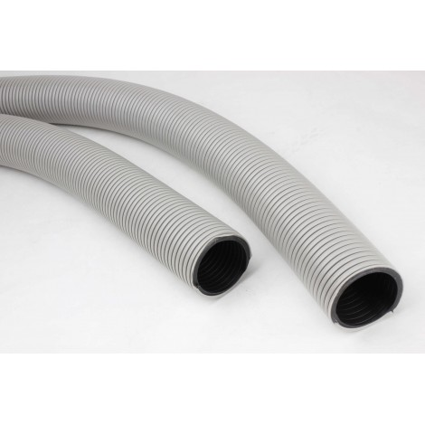 "Hose for Central Vacuum - 50' (15 m) - 2"" (50 mm) dia - Grey - Anti-Crush - Vaculox - Plastiflex GX105200050PI"