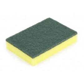 Éponge à récurer - PQT6 - 4'' x 6'' (10,2 cm x 15,2 cm) - verte et jaune