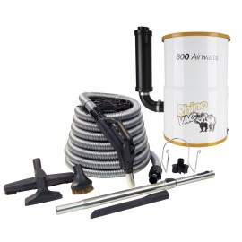 CENTRAL VACUUM KIT RHINO FOR CONDO 600W