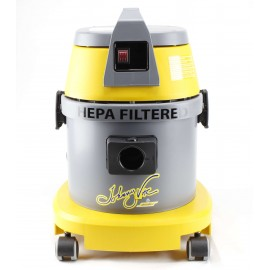 HEPA Certified Commercial Vacuum - 4 gal (15 L) Capacity - 10' (3 m) Hose - Metal Wands - Brushes and Accessories Included - Ghibli