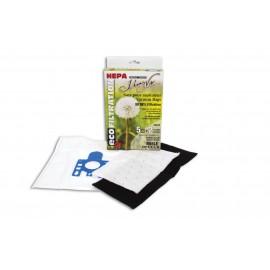 HEPA MICROFILTER VACUUM BAGS - MIELE F-J-M - PKG/5+2