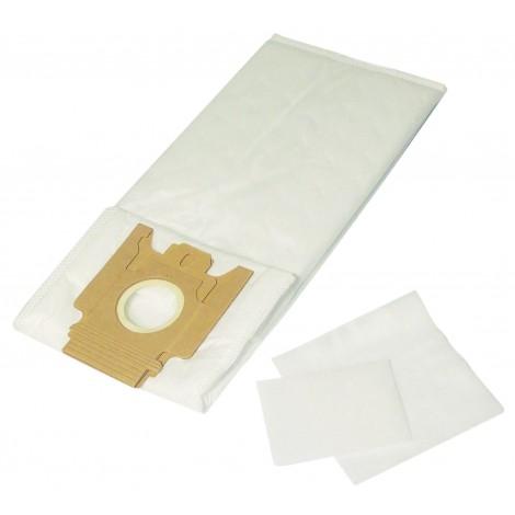 Sac microfiltre pour aspirateur Miele type U - paquet de 5 sacs + 2 filtres - Envirocare 210