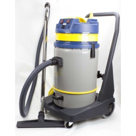 Wet and Dry Commercial Vacuum Cleaner - JV420P - Trolley-Mounted with Casters, 60 L Tilting Tank - Brush for Water, Carpet and Floor - KOALA 420B JV