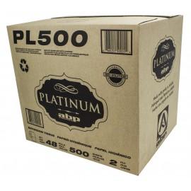 Papier hygiénique de marque Platinum 2 épaisseurs. 48 x 500 feuilles ABP # PL500