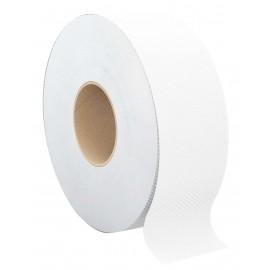 Papier hygienique commercial géant - 2 épaisseurs - boîte de 8 rouleaux - blanc - New Label ABP NL833028