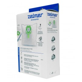 Hepa Bags for Zelmer VC1500 and VC2500 Canister Vacuum - Päck of 4 Bags + 1 Filter