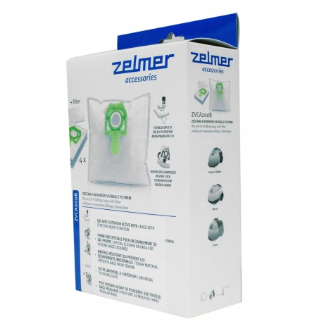 Hepa Vacuum Bags 4120 - Zelmer Vc1500/ Vc2500 - Pkg/4+1