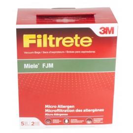 Sacs en microfiltre HEPA pour les aspirateurs de marque Miele F, J et M, paquet de 5 sacs +2 filtres #68704B