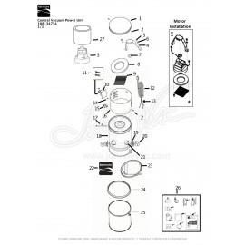 Kenmore Central Vacuum Kit 108-34750