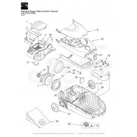 Kenmore Power-Mate Canister Vacuum 116.22251502C