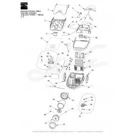 Kenmore Power-Mate Canister Vacuum Ebony 116.22271503C