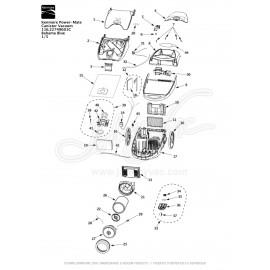Kenmore Power-Mate Canister Vacuum 116.22749601C