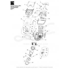 Kenmore Power-Mate Canister Vacuum 116.22803502C
