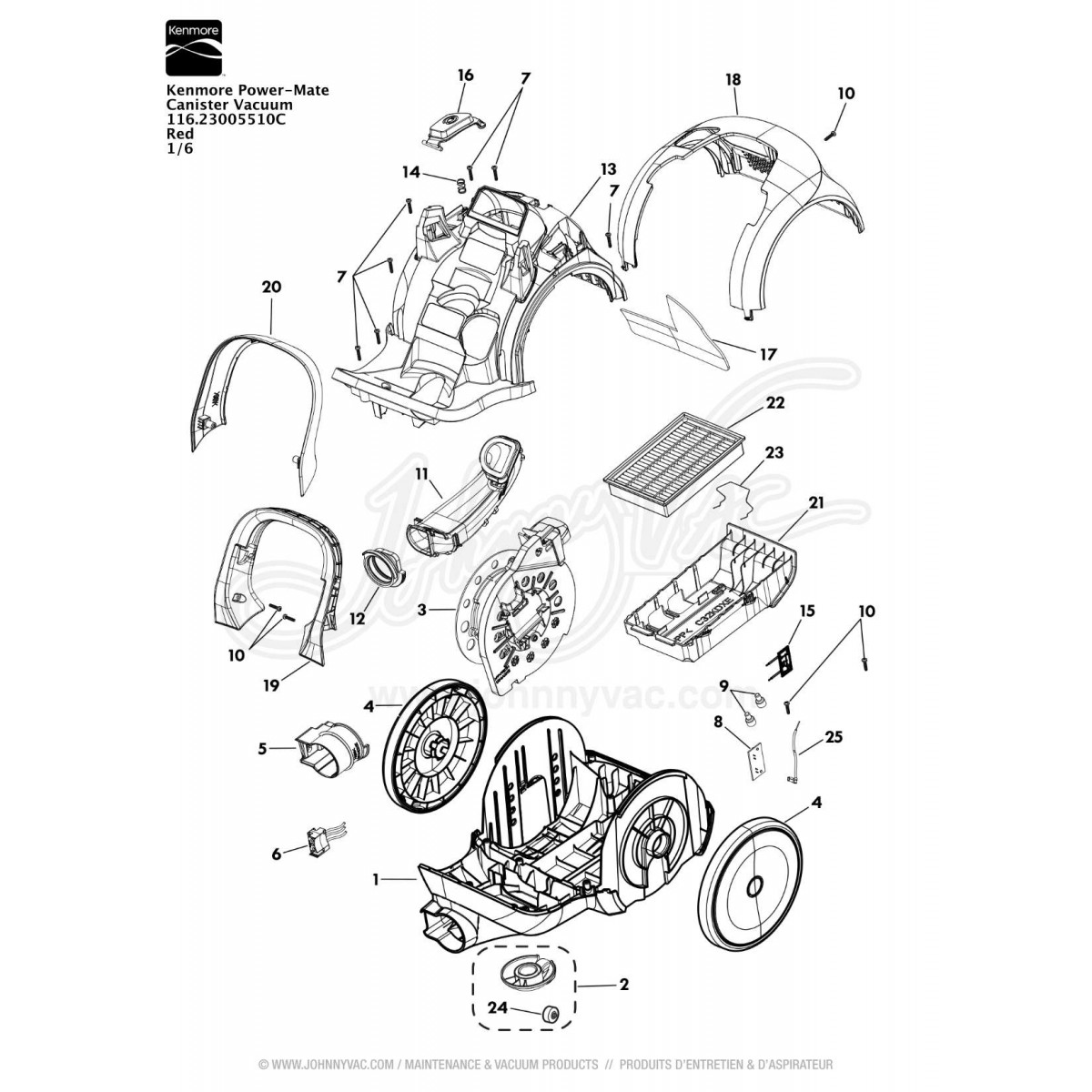 Kenmore Canister Vacuum Cleaner Sears Wiring Diagram