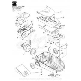 Kenmore Power-Mate Canister Vacuum