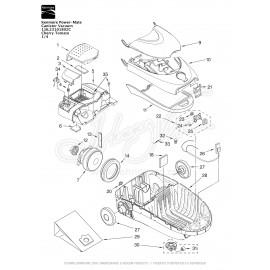 Kenmore Power-Mate Canister Vacuum 116.23101802C